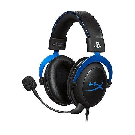 Headset Gamer HyperX Cloud Blue Preto e Azul com fio - PC e PS4
