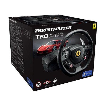 Volante Thrustmaster T80 Ferrari 488 GTB Edition - PS4 e PC