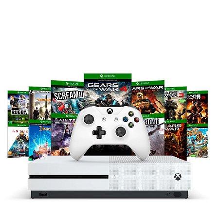 Console Xbox One S 1TB + 13 Jogos - Microsoft