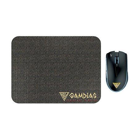 Kit Mouse e Mousepad Gamer Gamdias Zeus E1A com fio
