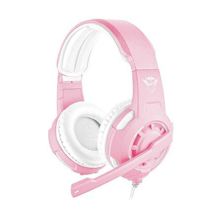 Headset Gamer Trust GXT Radius Pink Edition com fio - Multiplataforma