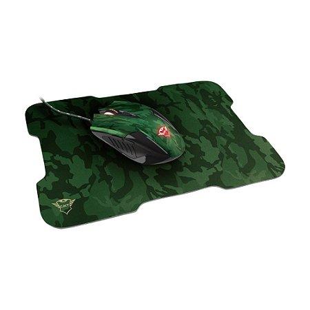 Kit Mouse e Mousepad Gamer Trust Rixa 3200dpi com fio