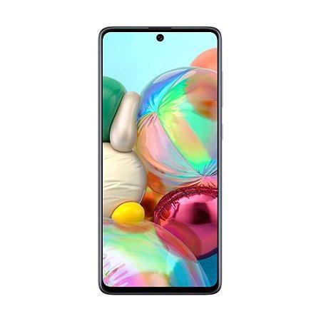 """Smartphone Samsung Galaxy A71 128GB 64MP Tela 6,7"""" Prata"""