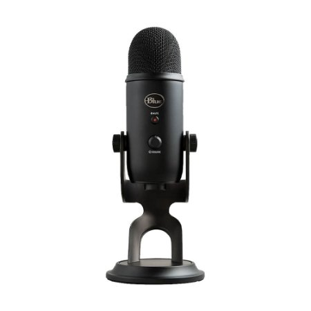 Microfone Condensador USB Blue Yeti Blackout 988-000100 Preto - PC