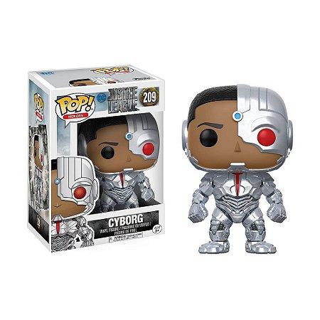 Boneco Cyborg 209 DC Liga da Justiça - Funko Pop!