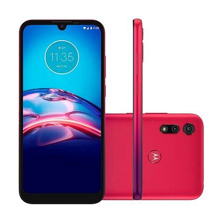 """Smartphone Motorola Moto E6s 32GB 13MP Tela 6,1"""" Vermelho Magenta"""