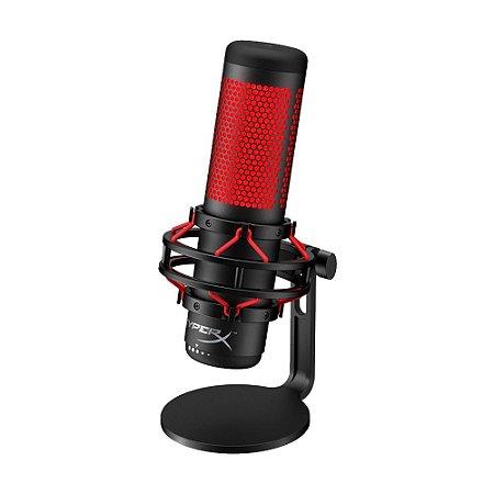 Microfone Condensador USB HyperX Quadcast HX-MICQC-BK Preto e Vermelho - PS4, PC e Mac