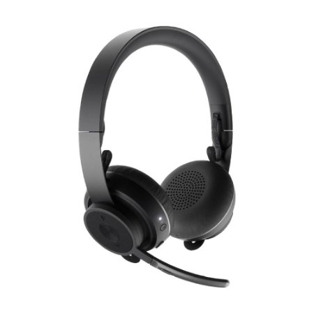 Headset Logitech Zone Wireless Preto sem fio - PC e Mobile