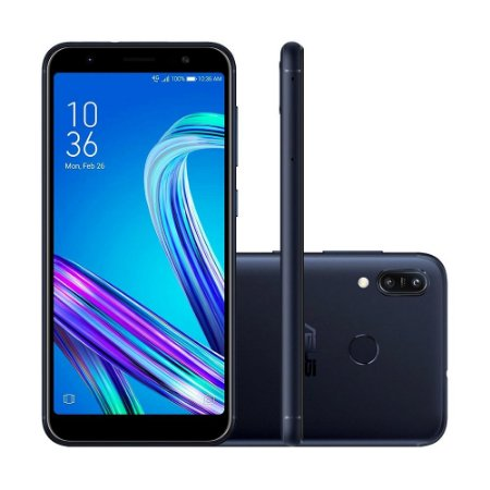 """Smartphone Asus Zenfone Max M3 64GB 13MP Tela 5,5"""" Preto"""