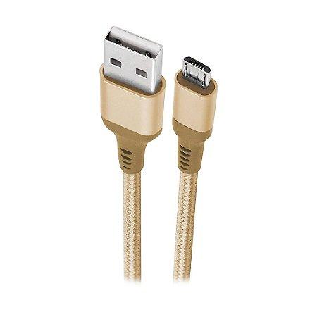 Cabo Micro-USB Geonav Essential em Nylon Trançado