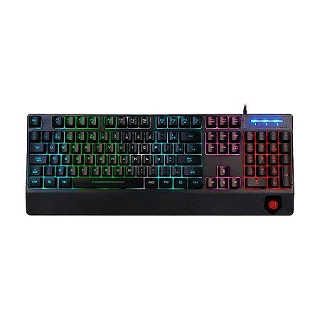 Teclado Gamer Hoopson TPC-046M RGB PT com fio