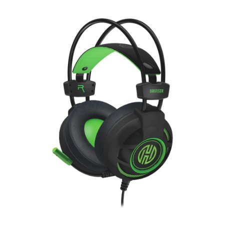 Headset Gamer Hoopson Bruiser DG28G LED com fio - PC