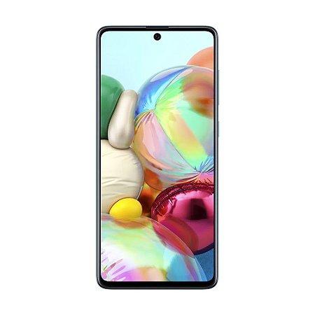 """Smartphone Samsung Galaxy A71 128GB 64MP Tela 6,7"""" Azul"""