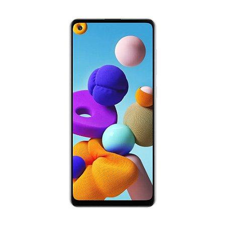 "Smartphone Samsung Galaxy A21s 64GB 48MP Tela 6,5"" Branco"