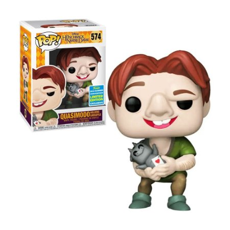 Boneco Quasimodo Holding Gargoyle 574 Disney The Hunchback of Notre Dame (Limited Edition) - Funko Pop!