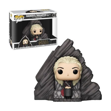 Boneco Daenerys Targaryen on Dragonstone Throne 63 Game of Thrones - Funko Pop!