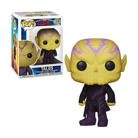 Boneco Talos 431 Captain Marvel - Funko Pop!