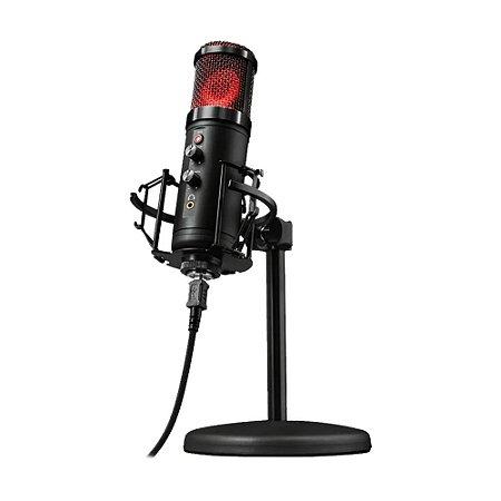 Microfone Condensador USB Trust Exxo GXT 256 Preto - PS4, PC e Mac