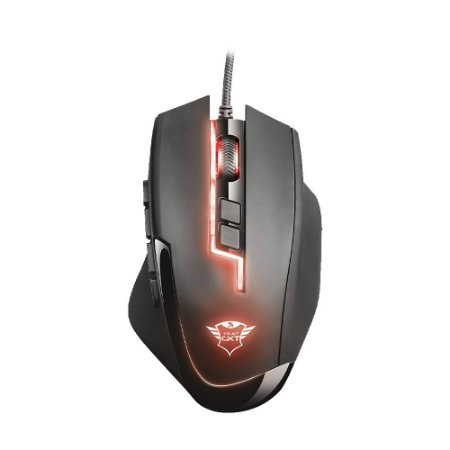 Mouse Gamer Trust Sikanda MMO GXT 164 RGB 5000 DPI com fio