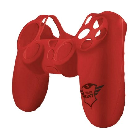 Capa de Silicone Trust Controller Skin Red GXT 744R para Dualshock 4 - PS4