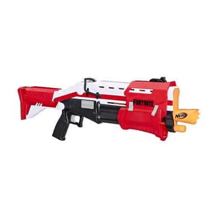 Lançador de Dardos Reskin TS Hasbro Nerf Mega Fortnite E7065