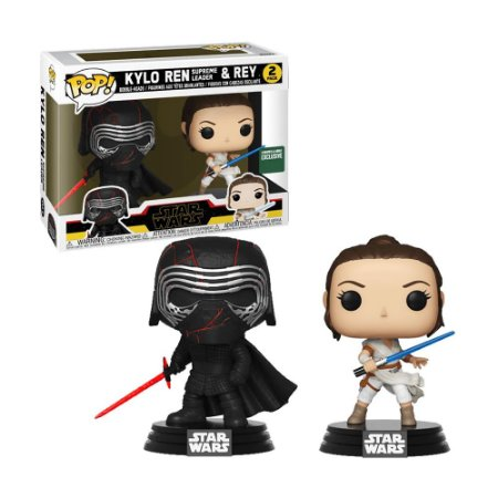 Boneco Kylo Ren Supreme Leader & Rey 2 Pack Star Wars - Funko Pop!