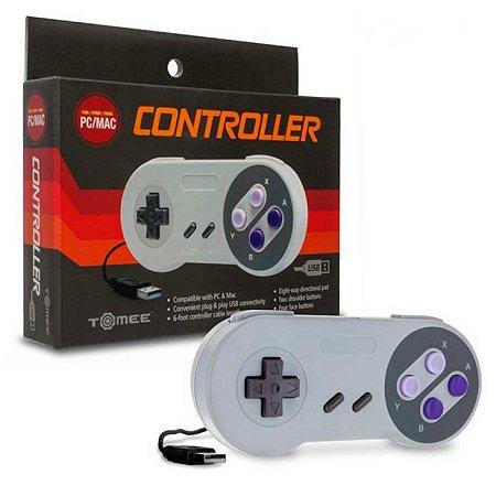 Controle Tomee estilo Super Nintendo USB - PC e Mac