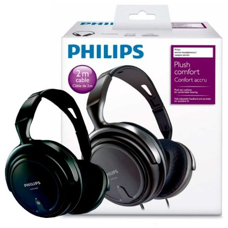 Headphone Stereo Philips SHP2000 com fio - PC