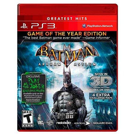 Jogo Batman: Arkham Asylum (GOTY) - PS3