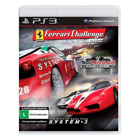 Jogos Ferrari Challenge: Trofeo Pirelli + Supercar Challenge - PS3