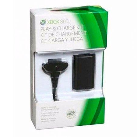 Bateria e Carregador Microsoft Play & Charge - Xbox 360