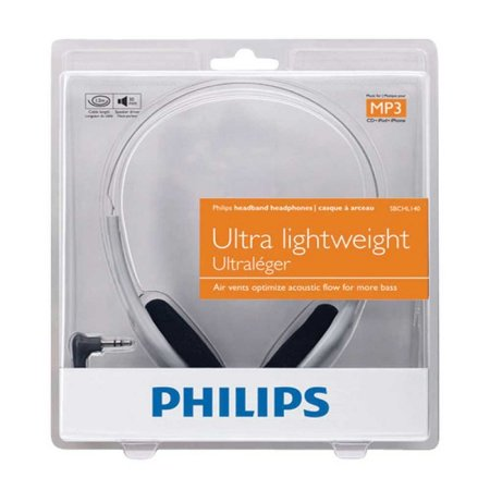Headset Philips Extra Bass Ultra Lightweight Sbchl140 com Fio - PC