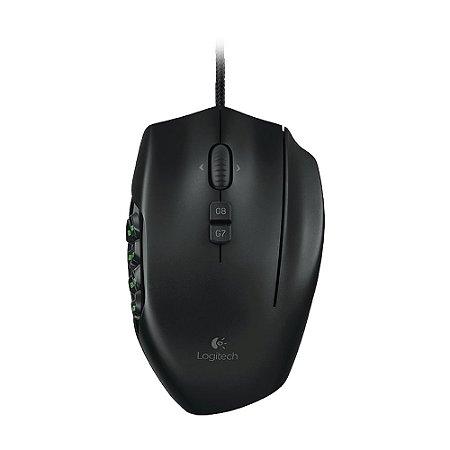 Mouse Gamer Logitech G600 MMO RGB 8200dpi com fio
