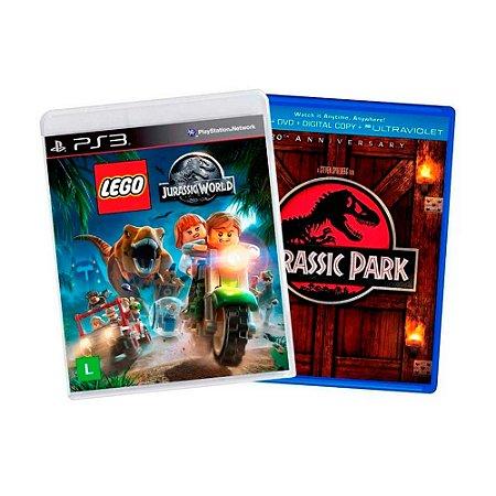 Jogo LEGO Jurassic World + Filme Jurassic Park - PS3