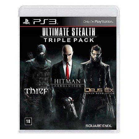 Jogo Ultimate Stealth Triple Pack: Thief + Hitman: Absolution + Deus Ex: Human Revolution - PS3