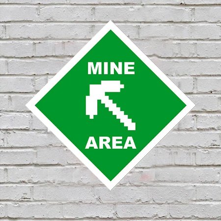 Placa de Parede Decorativa: Mine Area - ShopB