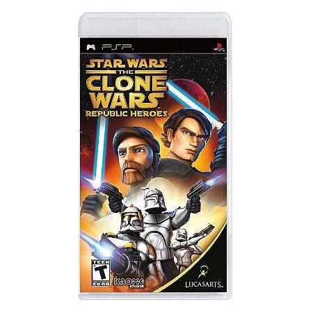 Jogo Star Wars Clone Wars: Republic Heroes - PSP