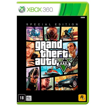 Jogo Grand Theft Auto V - GTA 5 (Special Edition) - Xbox 360