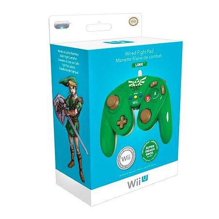 Controle Nintendo Gamecube Fight Pad Link com fio - Wii e Wii U