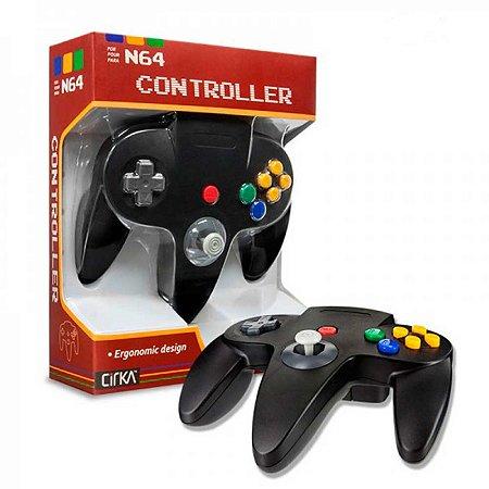 Controle N64 Hyperkin Cirka Preto Com Fio - Nintendo 64