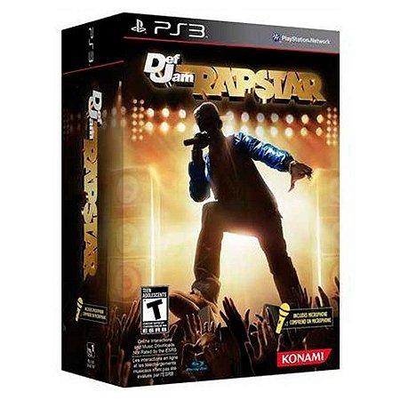 Jogo Def Jam Rapstar (Com Microfone) - PS3