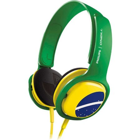 Headphone Philips O'Neill SHO3300BZ Brasil com fio - PC