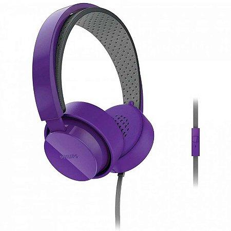 Headphone Philips Shibuya CitiScape SHL5205 Roxo com fio - PC
