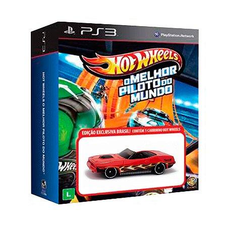 Jogo Hot Wheels: O Melhor Piloto do Mundo + Carrinho Plymouth Barracuda - PS3