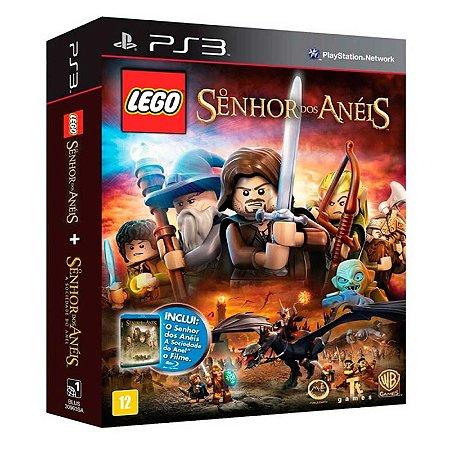 """Jogo LEGO O Senhor Dos Anéis + Filme """"O Senhor dos Anéis: A Sociedade do Anel"""" - PS3"""