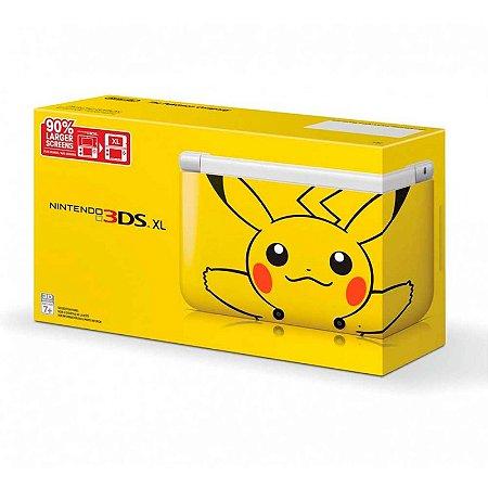 Console Nintendo 3DS XL: Edição Especial Pikachu Yellow - Nintendo