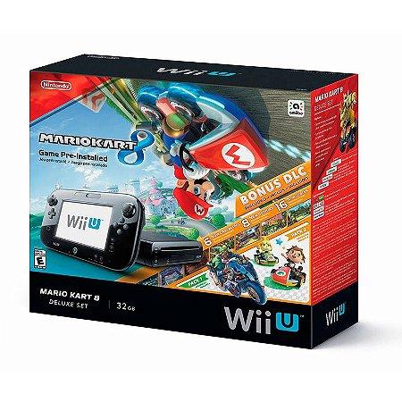 Console Nintendo Wii U Deluxe Set 32GB: Edicao Especial Mario Kart 8 - Nintendo