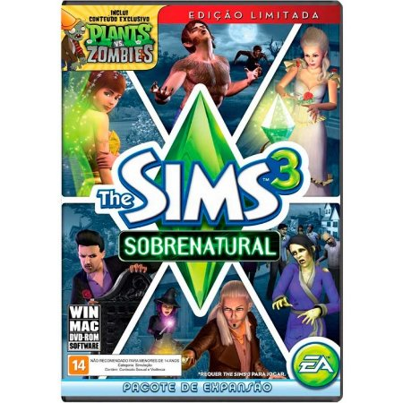 Jogo The Sims 3: Sobrenatural + Conteúdo Plants vs. Zombies - PC e MAC
