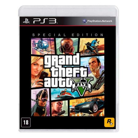 Jogo Grand Theft Auto V - GTA 5 (Special Edition) - PS3