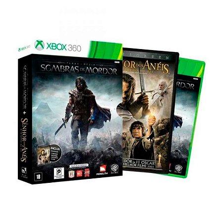 Jogo Terra Média: Sombras de Mordor + Filme - Xbox 360